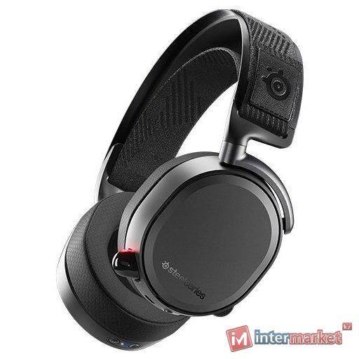 Гарнитура, Steelseries, Arctis Pro Wireless, 61473, Микрофон выдвижной гибкий, Пульт управления, Динамики 40 мм, 2.4GHz, Bluetooth 4.1, Чёрный