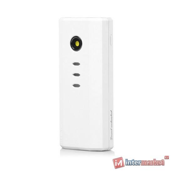Универсальное зарядное устройство, iWalk, Extreme5200, UBE5200, 5200mAh, Индикатор заряда, LED фонарик, MFI6.0, CE, ROHS, FCC, Белый